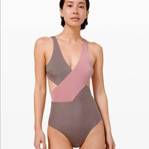 Lululemon All that Glimmers Wrap One Piece - Pink